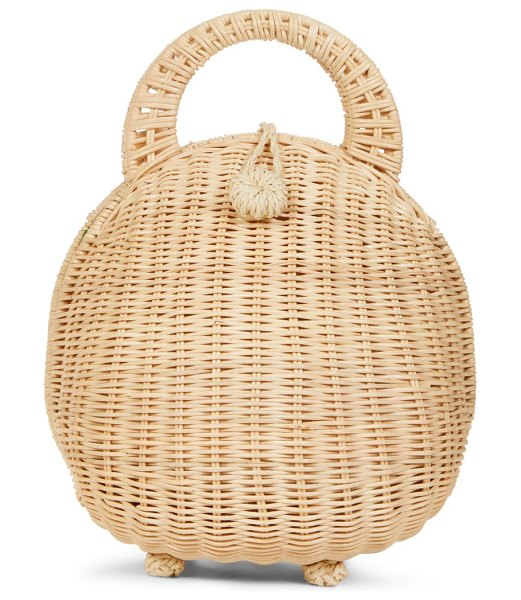 Cult Gaia millie rattan clutch in natural