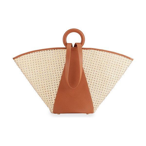 Cult Gaia Roksana Large Bicolor Tote Bag in natural