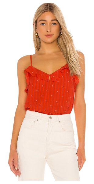cupcakes and cashmere emery dot cami in hot coral