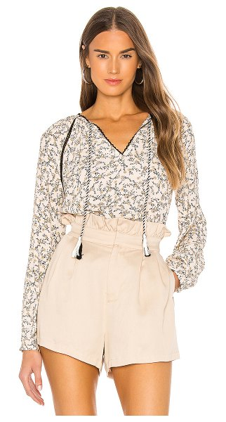cupcakes and cashmere halston blouse in cameo rose