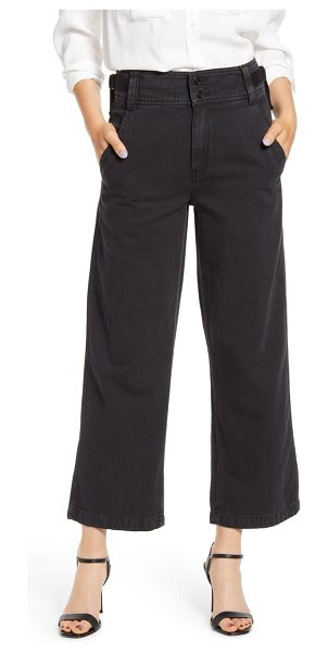 Current/Elliott relaxed utility pants in washed black