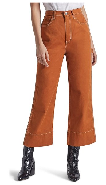 Current/Elliott the carpenter high waist crop pants in caramel cafe