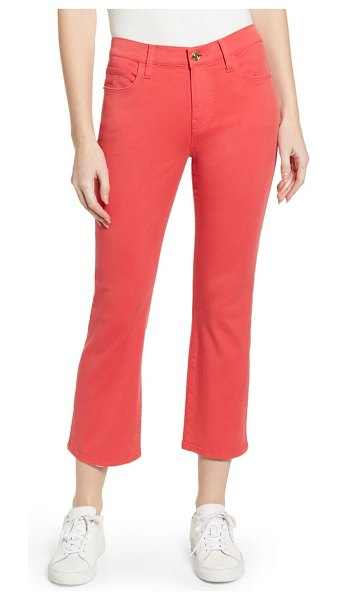 Current/Elliott the kick crop jeans in poinsettia