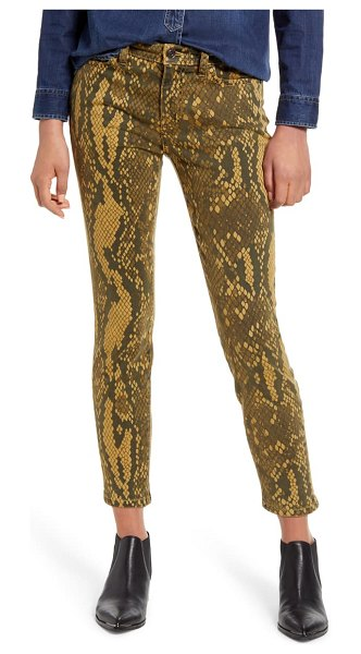 Current/Elliott the stiletto ankle skinny jeans in light burme python