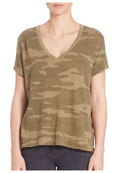 Current/Elliott the v-neck camo tee in army camo