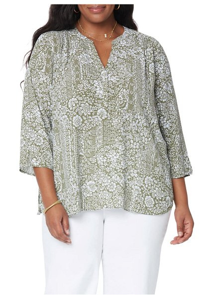 CURVES 360 BY NYDJ perfect blouse in boca grande