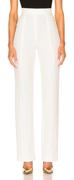 Cushnie et Ochs Stretch Twill High-Waisted Pants in white - 88% polyamide 12% elastan.  Made in USA.  Dry clean...