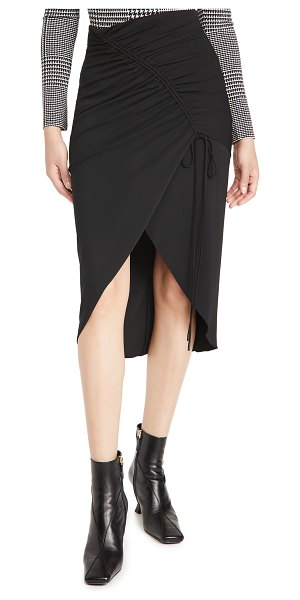 Cushnie high waisted pencil skirt with drawstring in black