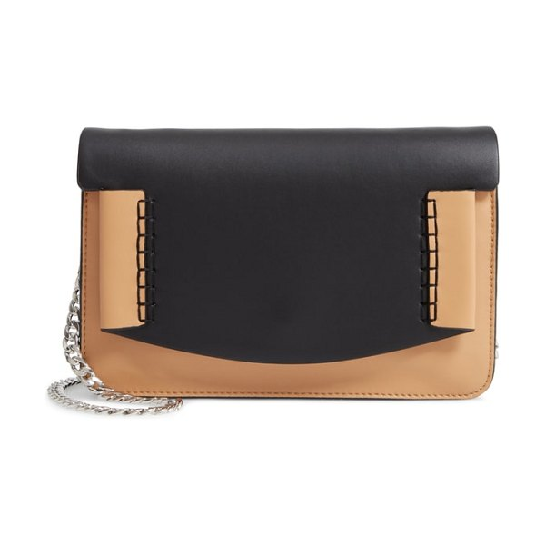 Danielle Nicole mallory leather shoulder bag in sand combo - Cool color blocking and sleek lines combine to give this...