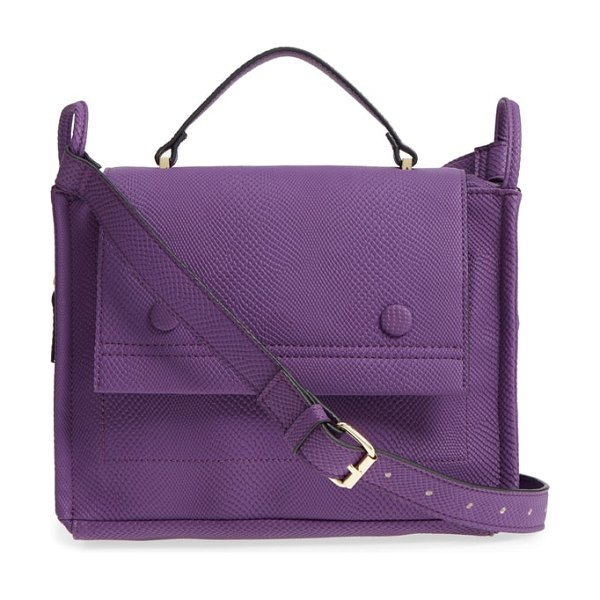Danielle Nicole nolan faux leather crossbody bag in purple - Snake-embossed faux leather lends rich texture to a...