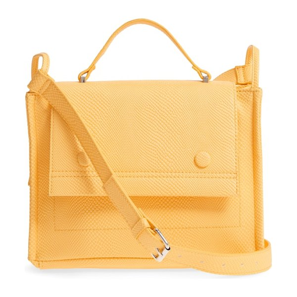 Danielle Nicole nolan faux leather crossbody bag in mustard snake - Snake-embossed faux leather lends rich texture to a...