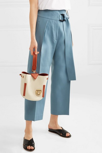 DANSE LENTE josh smooth and textured-leather bucket bag in white - Danse Lente's 'Josh' bag is the first sporty-inspired...