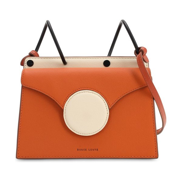 DANSE LENTE Mini phoebe leather shoulder bag in fire,marshmallo