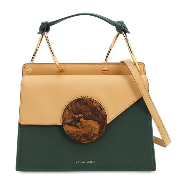 DANSE LENTE Phoebe bis leather shoulder bag in garden honey
