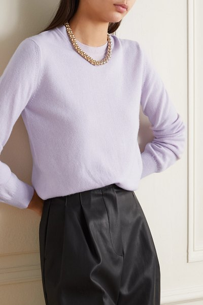 Daughter &innes classic cashmere sweater in lilac