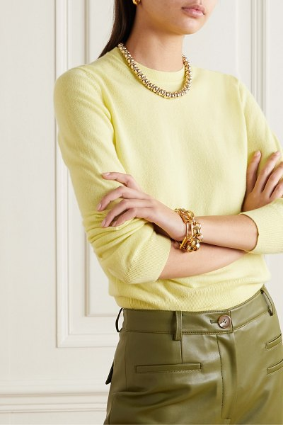 Daughter &classic cashmere sweater in yellow