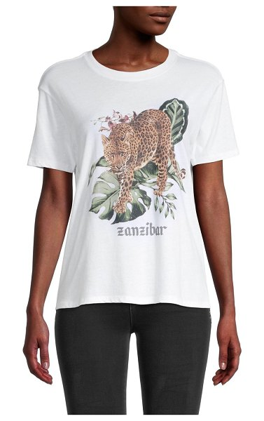 David Lerner Zanzibar Graphic Boyfriend T-Shirt in white
