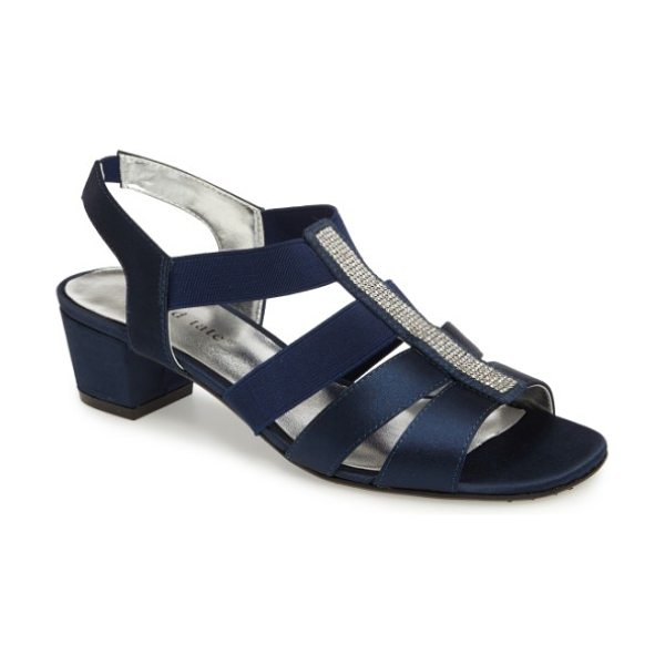 David Tate eve embellished sandal in navy fabric