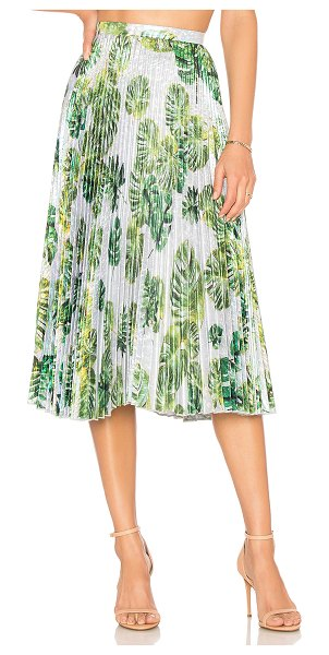 """Delfi Collective Clara Skirt in green - """"Self: 53% poly 47% nylonLining: 100% poly. Hand wash..."""