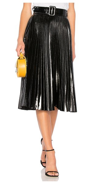 "Delfi Collective Quincy Skirt in black - ""100% poly. Dry clean only. Fully lined. Pleated vinyl...."