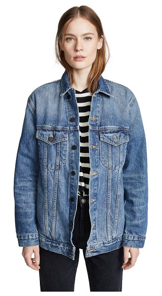 Denim x Alexander Wang daze oversized denim jacket in light indigo aged