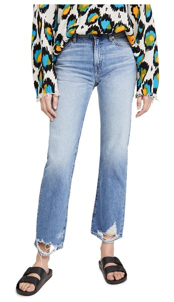 Denimist joni mid rise jeans in mote destroyed ankle