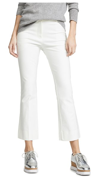 DEREK LAM 10 CROSBY cropped flare trousers in soft white