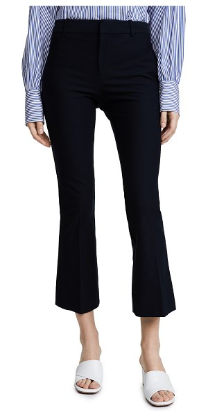 DEREK LAM 10 CROSBY cropped flare trousers in midnight
