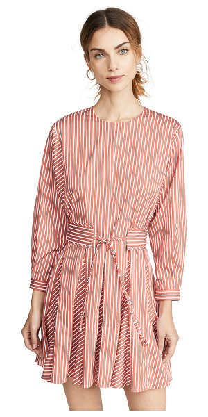 DEREK LAM 10 CROSBY long sleeve godet skirt dress in orange
