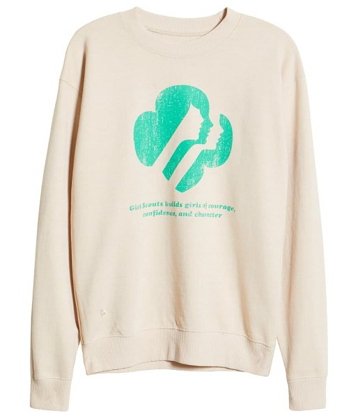 Desert Dreamer girl scouts graphic sweatshirt in washed sand