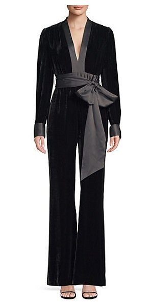 88fc86285746 Diane von Furstenberg sash jumpsuit in black - From the Saks It List  The  Jumpsuit