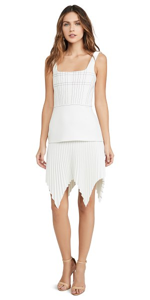 Dion Lee bonded crepe ellipse pleat mini dress in ivory
