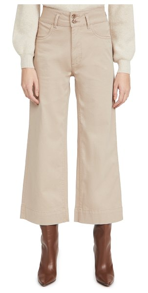 DL 1961 1961 hepburn wide leg pants in sandbank