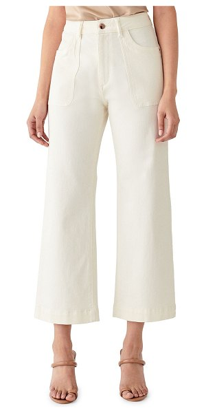 DL 1961 Hepburn High Rise Wide Leg Jeans in sutter