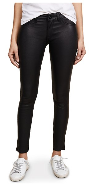 DL 1961 1961 emma power legging leather & coated jeans in poseidon