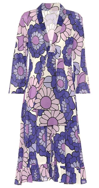 Dodo Bar Or floral cotton dress in purple
