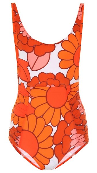 Dodo Bar Or floral swimsuit in orange