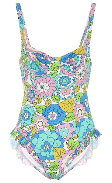 Dodo Bar Or floral swimsuit in blue
