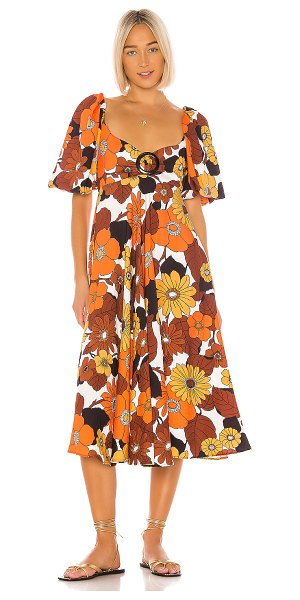 Dodo Bar Or mor dress in orange brown flower