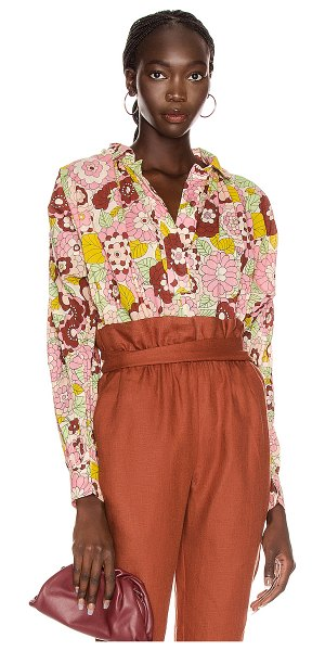 Dodo Bar Or valerie shirt in flower 3 pink