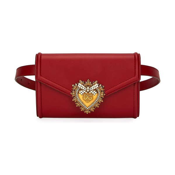 Dolce & Gabbana Devotion Leather Belt Bag in red