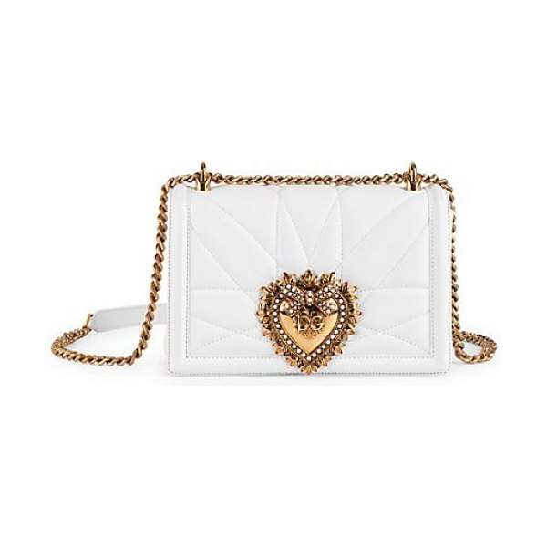 Dolce & Gabbana devotion medium crossbody bag in black,white - Small and chic flap closure clutch in quilted leather...