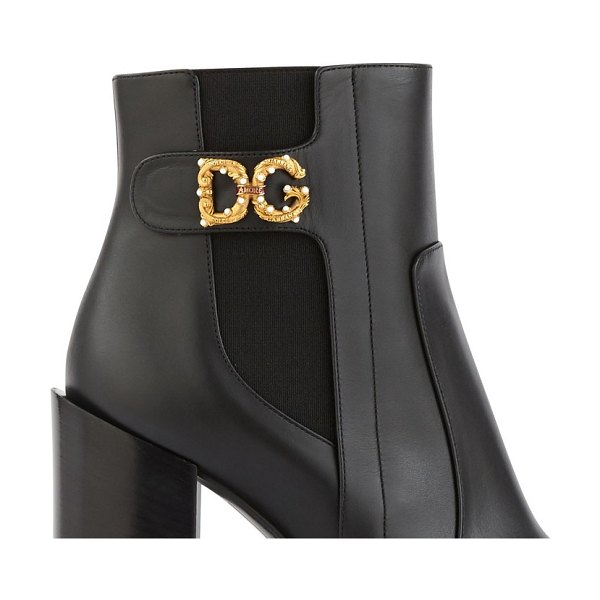 Dolce & Gabbana DG Amore ankle boots in black