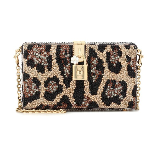 Dolce & Gabbana dolce box embellished clutch in multicoloured