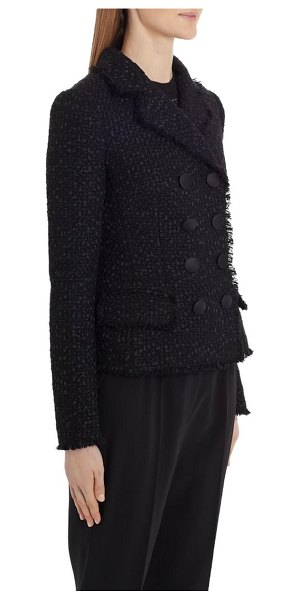 Dolce & Gabbana double breasted tweed jacket in black