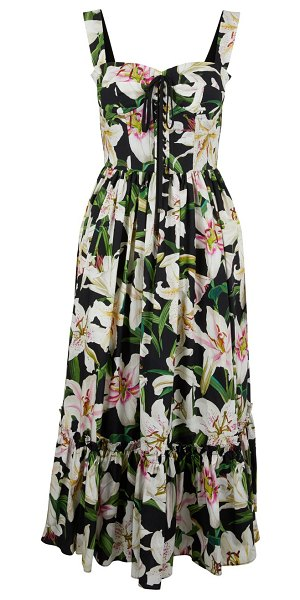 Dolce & Gabbana Floral print dress in nero