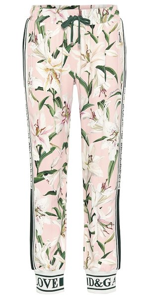 Dolce & Gabbana floral trackpants in multicoloured