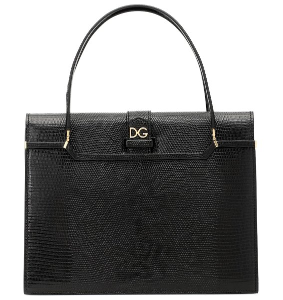 Dolce & Gabbana ingrid medium leather tote in black