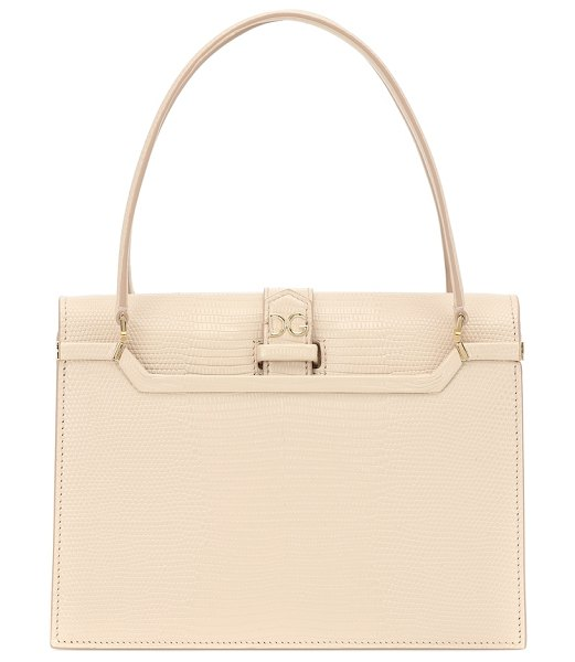 Dolce & Gabbana ingrid small leather tote in pink