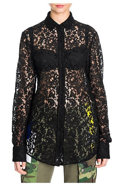Dolce & Gabbana lace button-front blouse in black